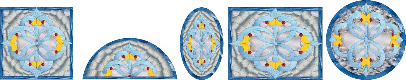 What Does Vinyl Lettering Look Like Within A Stained Glass